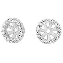 0.16 CT 14K Gold Round Diamond Ladies Stud Earrings Removabl