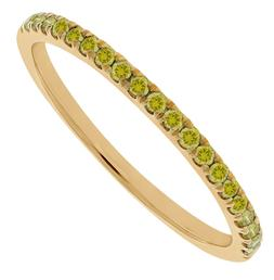 Prism Jewel 0.20Ct Round Yellow Color Diamond Stackable Anni