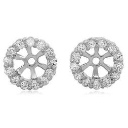 0.30 CT 18K White Gold Round Diamond Removable Jackets for S