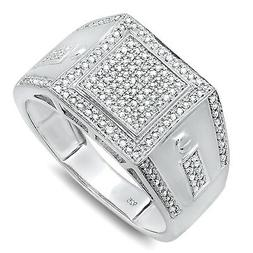 Dazzlingrock Collection 0.35 Carat  Sterling Silver Round Cu