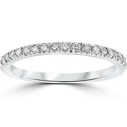 1/3 ct Pave Diamond Wedding Pave Ring Womens Stackable Band