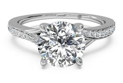 1.78ct Anniversary Pave Solitaire Diamond Engagement Ring So