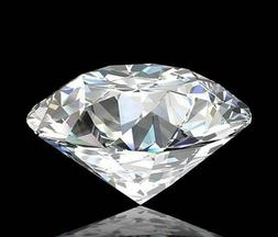 2.56ct Certified Natural 9.0mm White Diamond H-Color Round C