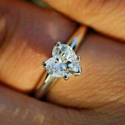 2.91Ct Heart cut Solitaire Band Diamond Engagement Ring Soli
