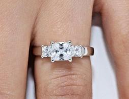 2ct Princess Cut Solitaire Diamond Engagement Ring 14kt Whit