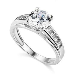 3 Ct Round Brilliant Cut Real 14K White Gold Engagement Wedd