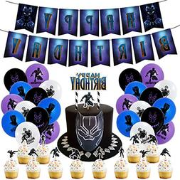 Black Panther Birthday Party Supplies for Home Decoration ki