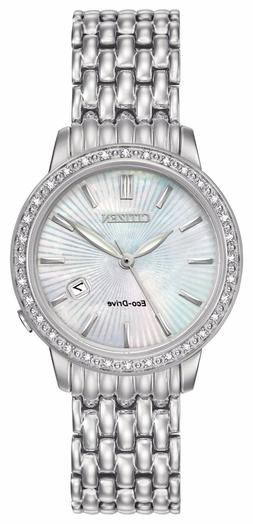 eco drive diamond accent stainless