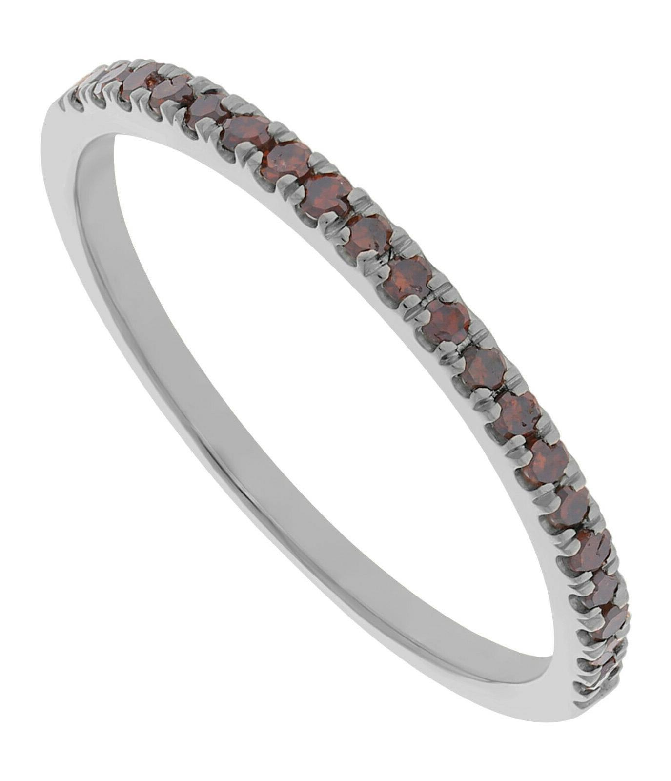 Prism Jewel 0.20Ct Round Cognac Stackable Anniversary Band