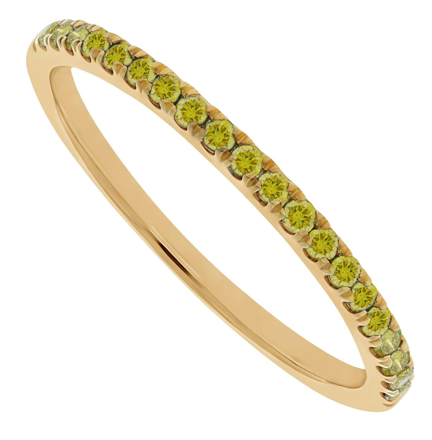 0 20ct round yellow color diamond stackable