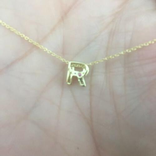 100% Roberto Coin yellow diamond R letter initial