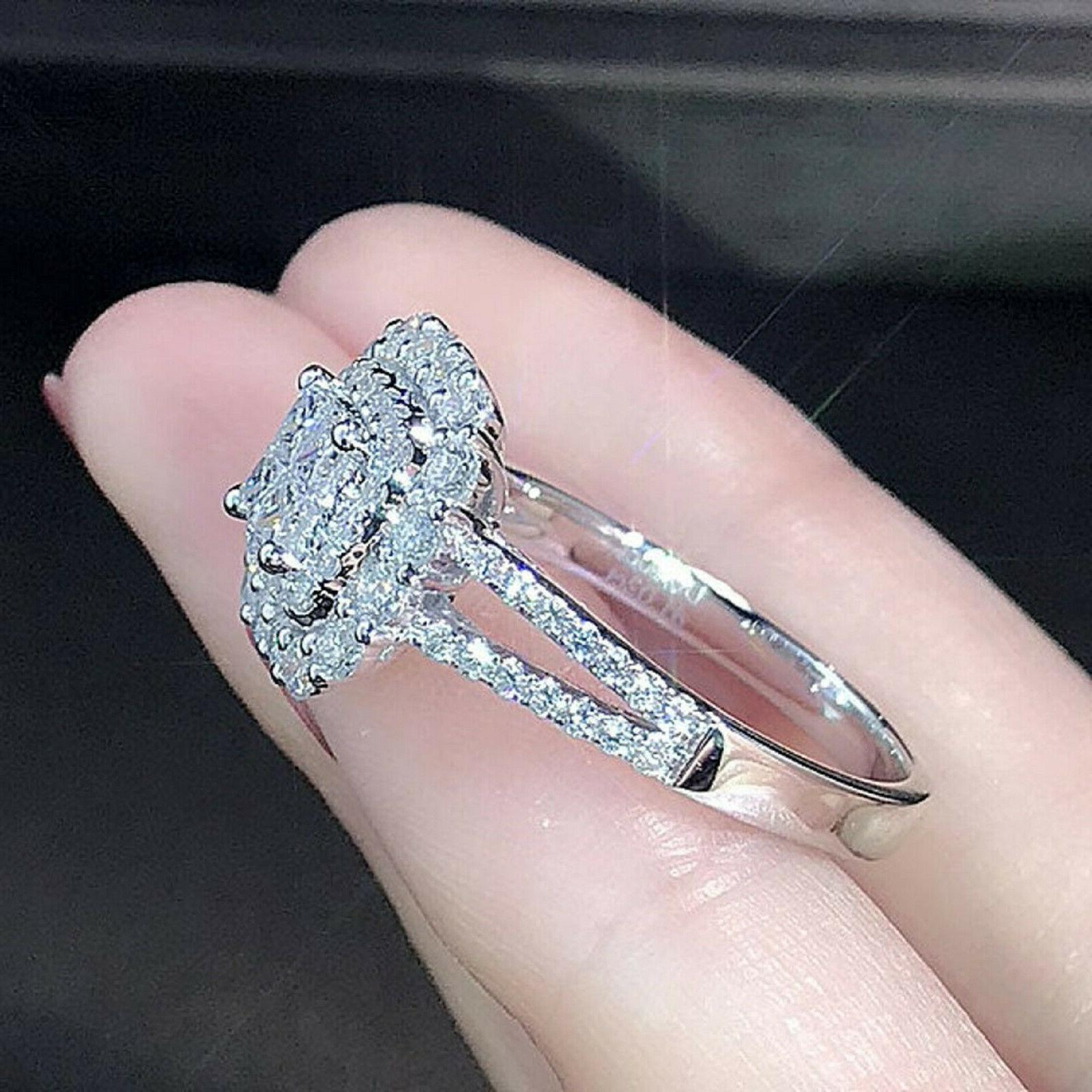 2.57ct Cut Diamond Engagement Band Solid 14k