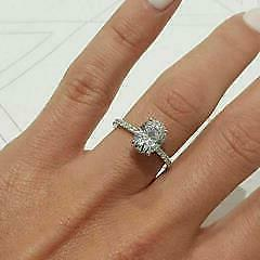 2.Certified Huge Oval Diamond Solitaire in White