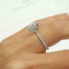 2.Certified Huge 2.86Ct Diamond Solitaire Ring in White