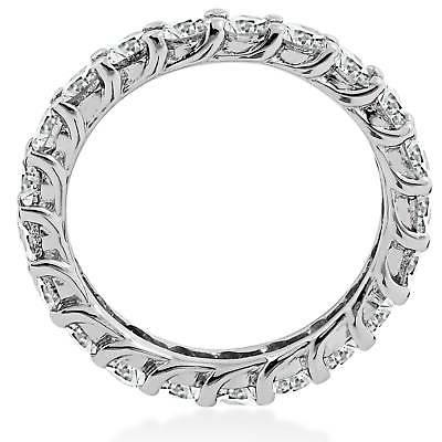 3 ct Round White Stackable