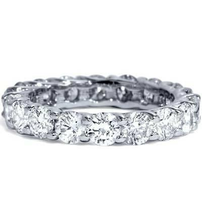 3 Eternity Wedding White Womens Stackable Band