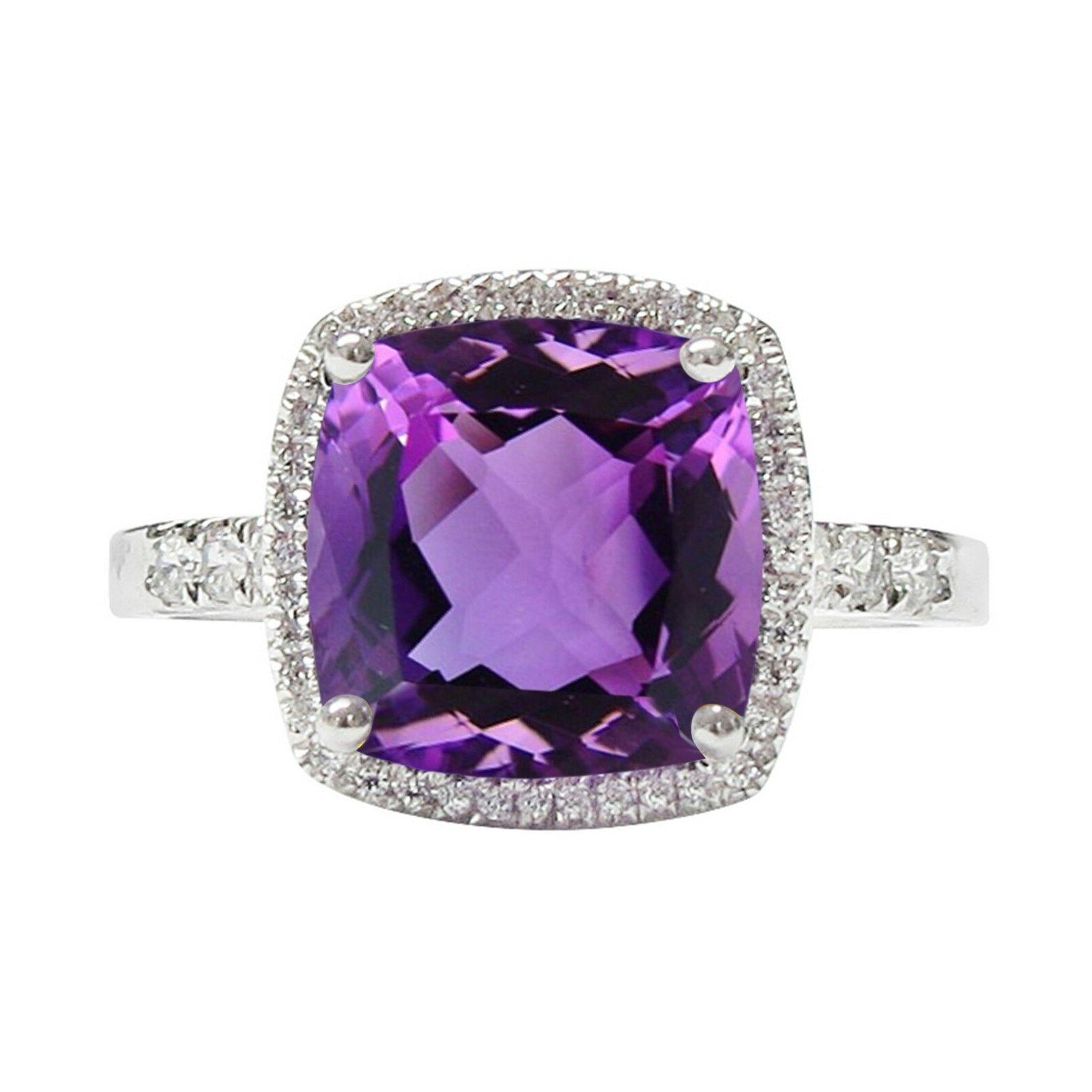 3cttw amethyst and white sapphire diamond cocktail