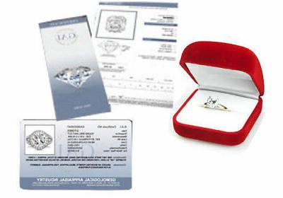 CERTIFIED 1.25ct DIAMOND SOLITAIRE ENGAGEMENT 14K WHITE