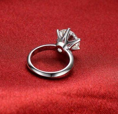Certified 6 Solitaire Ring White