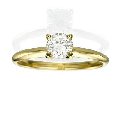 DIAMOND SOLITAIRE ENGAGEMENT 1.5 CARAT SI1 ROUND 14K CERTIFIED