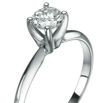 DIAMOND SOLITAIRE ENGAGEMENT 1.5 CARAT ROUND CERTIFIED