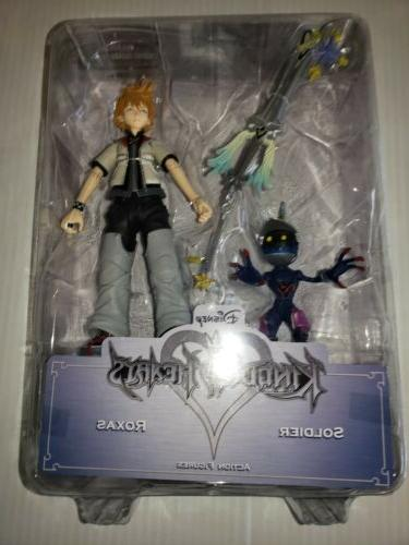 kingdom hearts soldier and roxas action figures