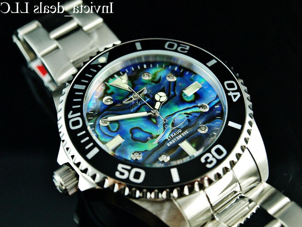 NEW 47mm Abalone Silver Watch