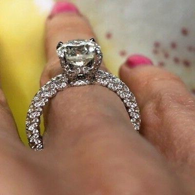 Platinum GIA Certified Ct Solitaire Engagement