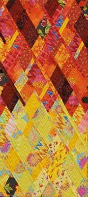 PlumEasy Dancing Diamonds Art Quilt Wall Hanging Pattern