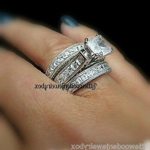 Real .925 Sterling 3pc Band Set size 5-9