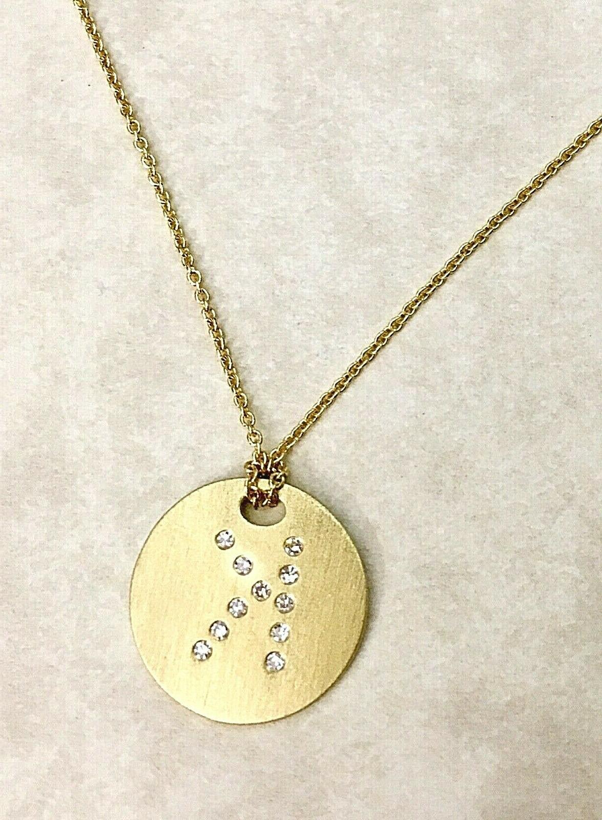 620 tiny treasures disc initial k necklace