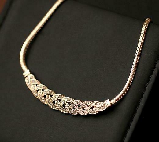 For Rose Gold Diamonds Necklace Chain Pendant