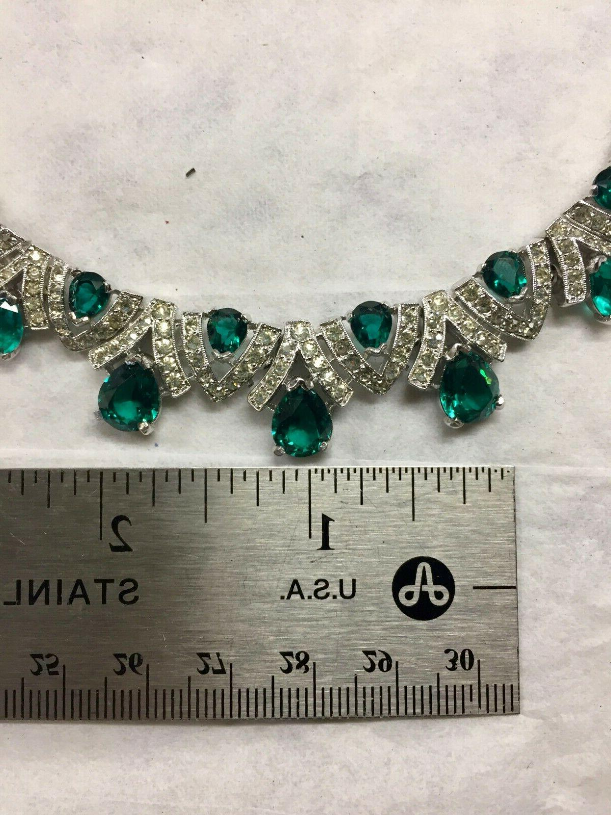 Women's Dazzling & Emerald Necklace FREE SHIPPING