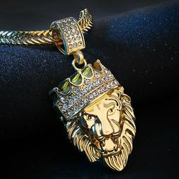 """Men's Stainless Steel Lion NECKLACE WITH 18"""" Chain Necklace"""