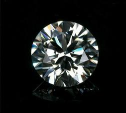 Natural 9mm White Diamond H-Color Round Cut VVS2 Clarity Exc