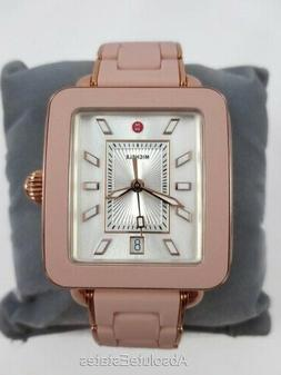 NEW Michele Pink Deco Sport Bracelet Rose Gold Watch MWW06K0