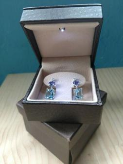 NWT Angara Birthstone Earrings - 6ct. Aquamarine, Tanzanite,
