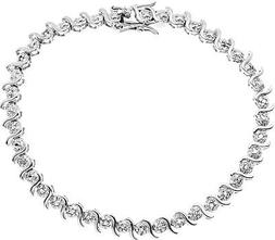 JewelExclusive Sterling Silver 1 4 cttw Natural Round-Cut Di