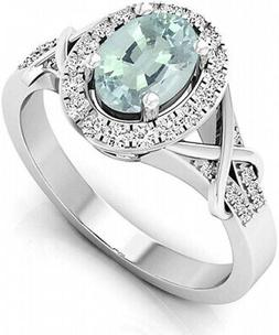 - DazzlingRock Collection Women's Oval Cut Round Cut Ring